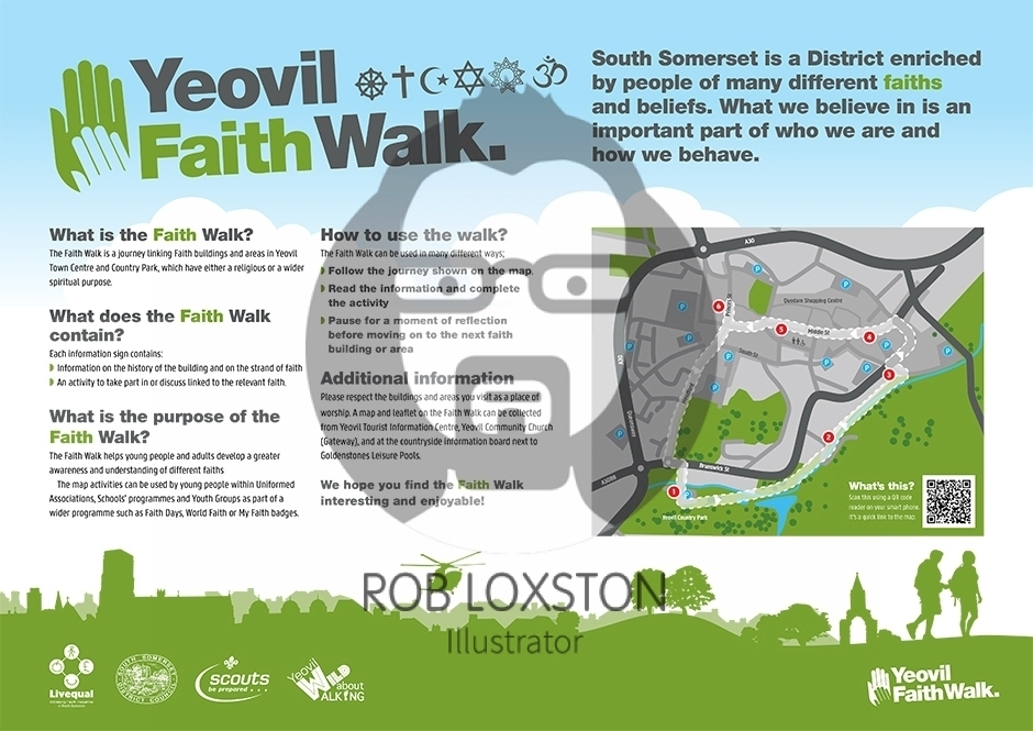 Yeovil faith walk interpretation panel and map rob loxston yeovil faith walk interpretation panel and map publicscrutiny Images